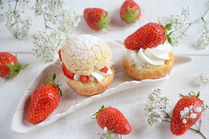Choux chantilly et fraises