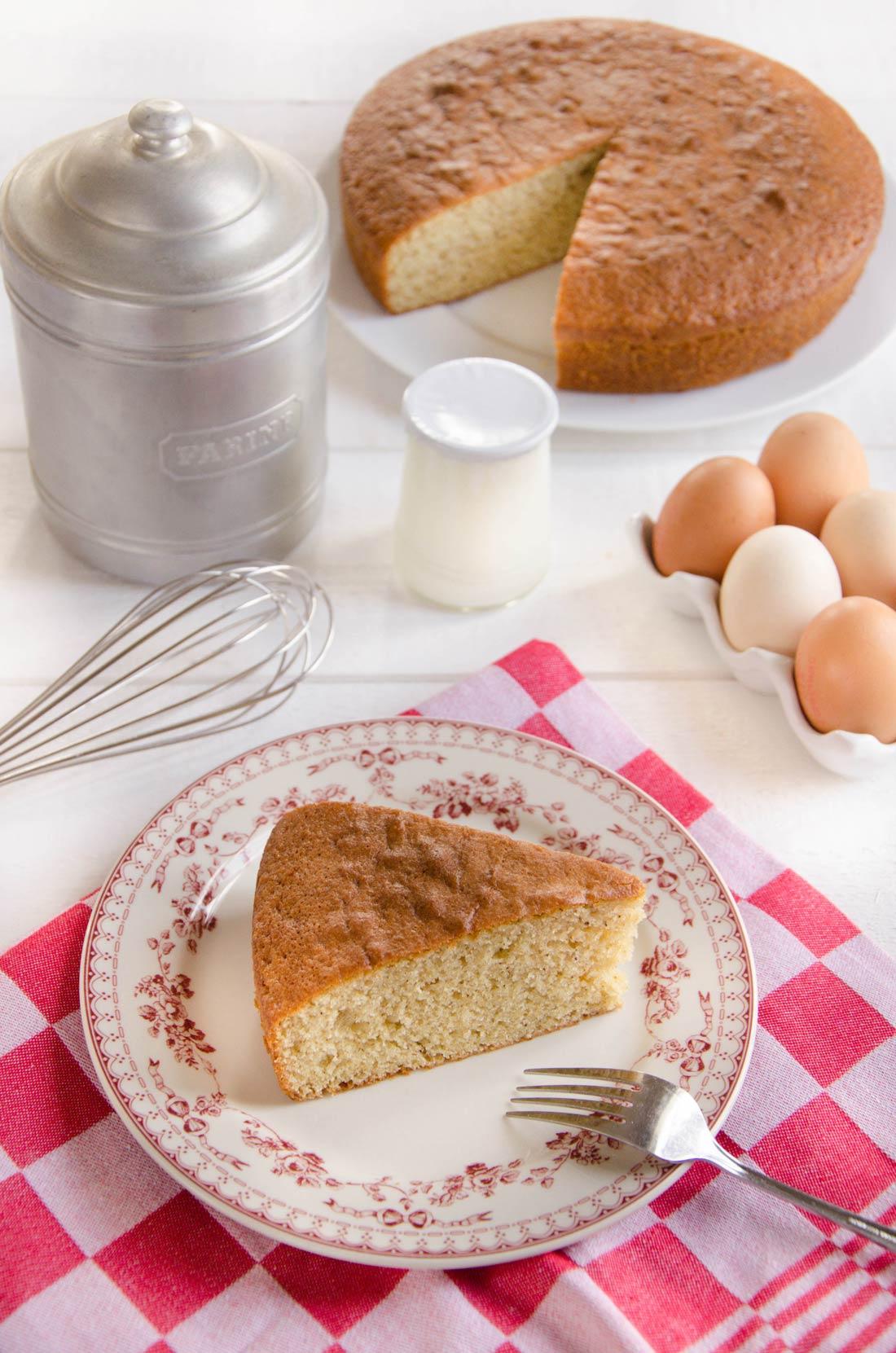 part de gâteau au yaourt