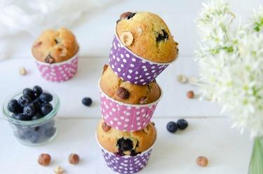 muffins myrtilles noisettes
