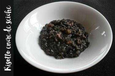 recette de risotto à l'encre de seiche