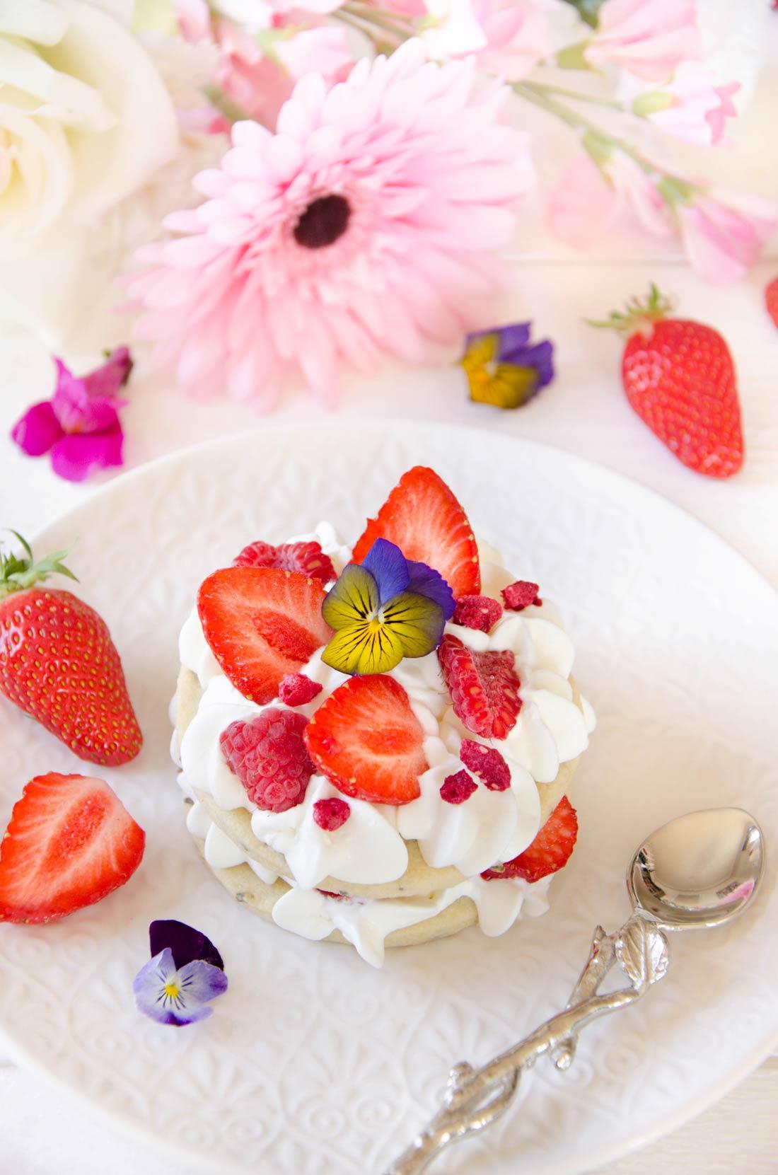 Recette de sablés fraises framboises et lavande
