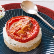 cheesecake chèvre tomate