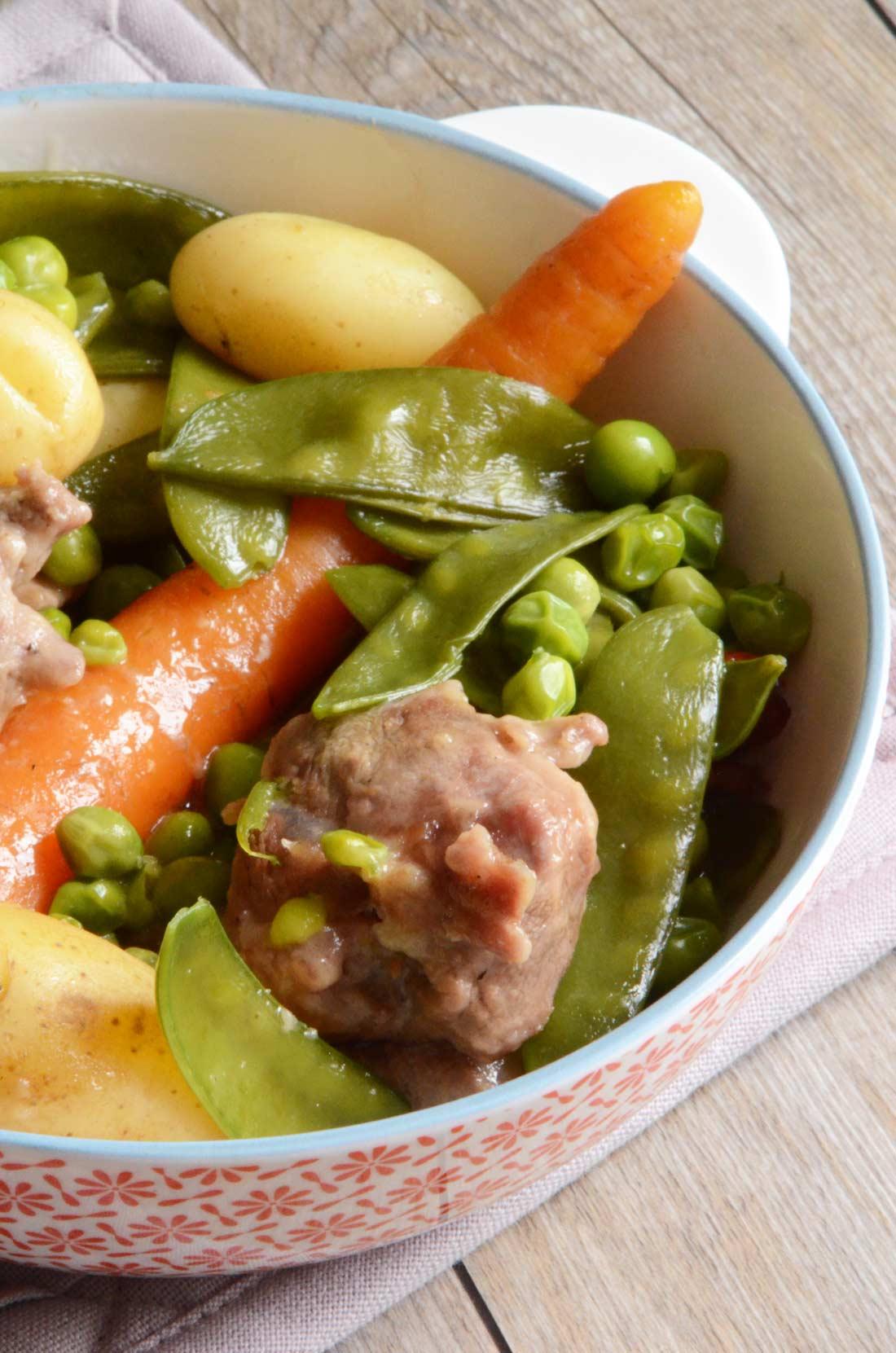 Délicieuse recette de navarin d'agneau printanier