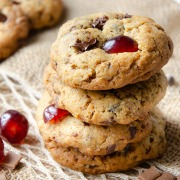 recettes de cookies cerises caramel chocolat