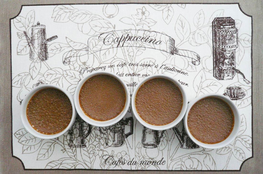 délicieuse recette de crèmes au café