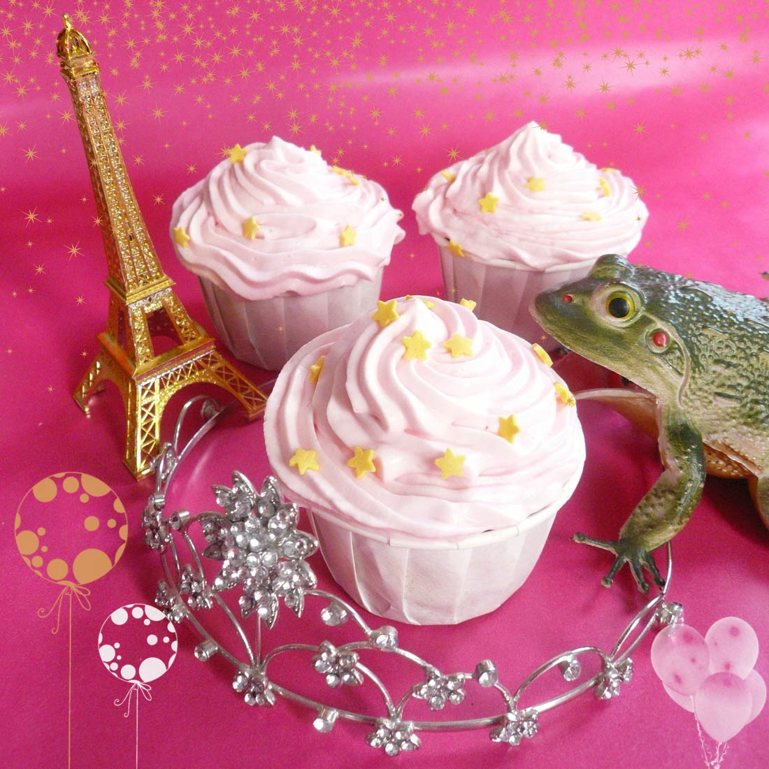 Fairy cranberry cupcakes