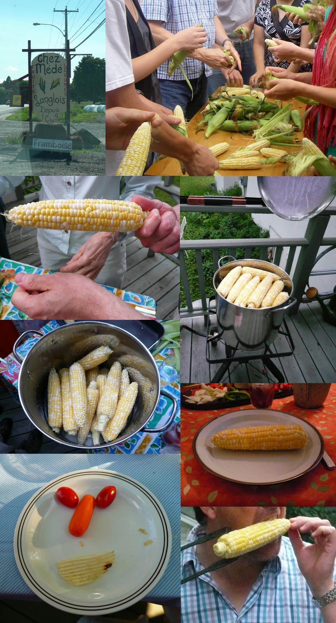 épluchette de blé d'Inde ou maïs