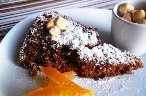 Gâteau chocolat noisettes