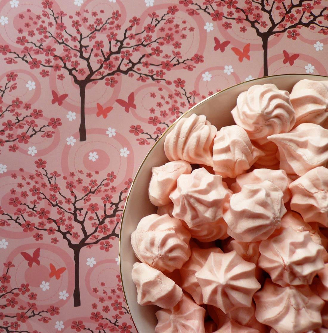 Recette de mini meringues girly