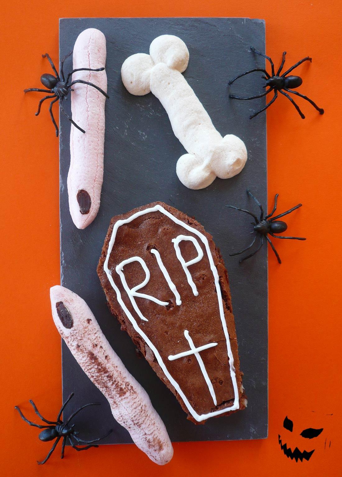 Brownies cercueil pour Halloween