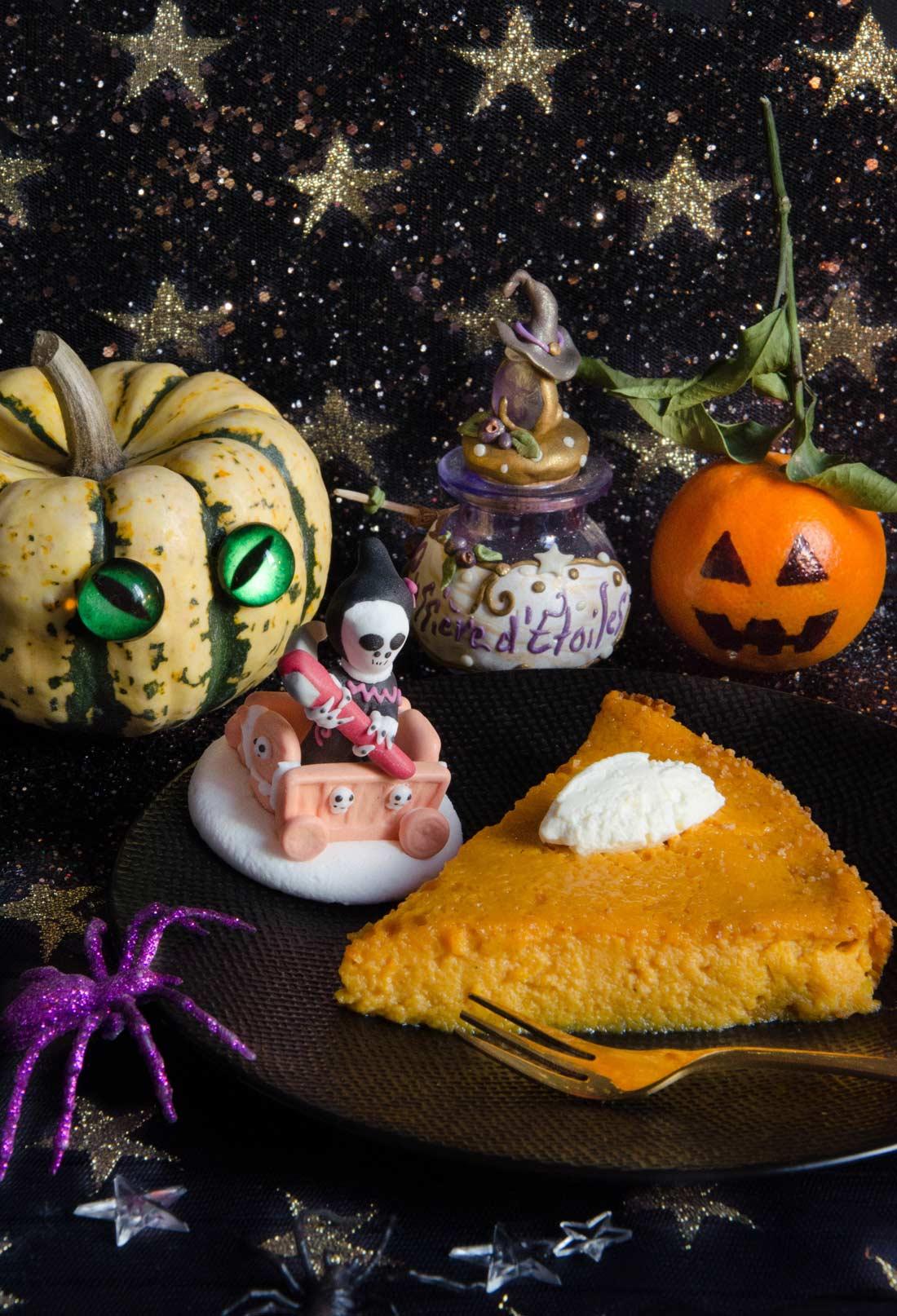 clafoutis potiron muscade pour Halloween