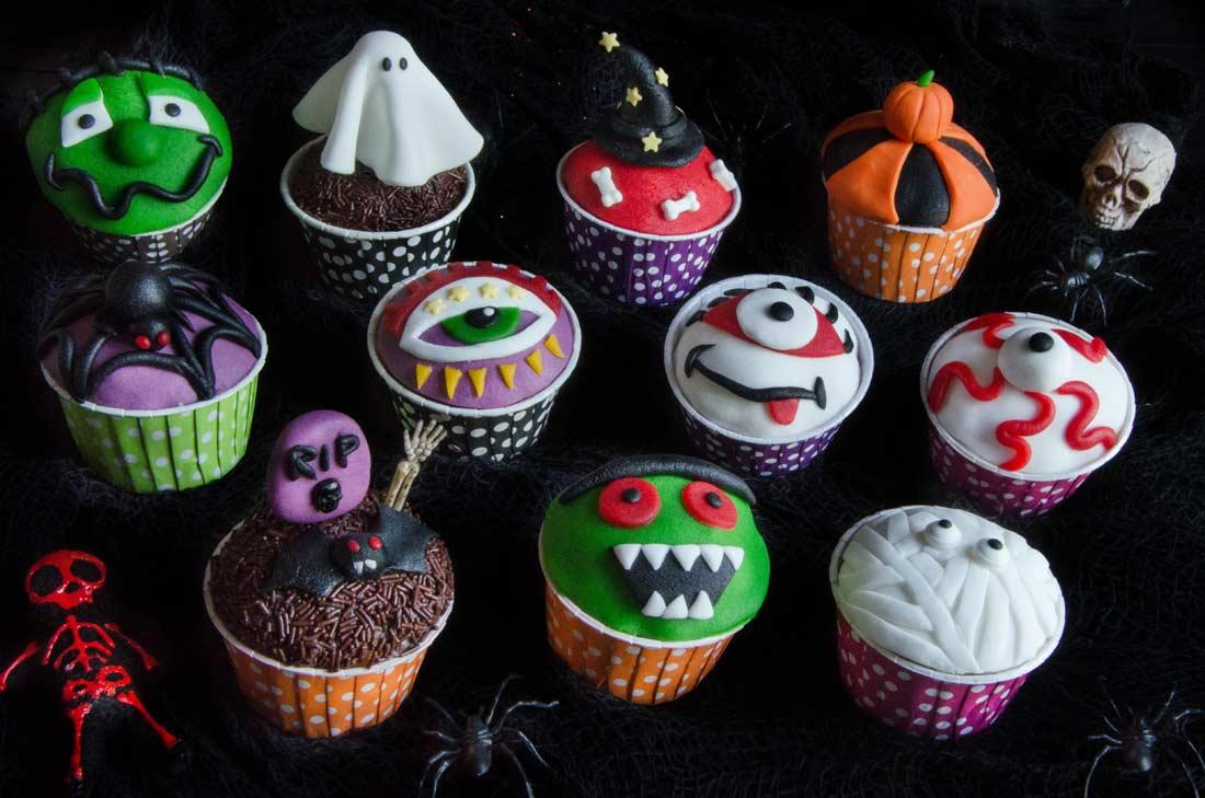 Recette de cupcakes à l'orange décorés pour Halloween