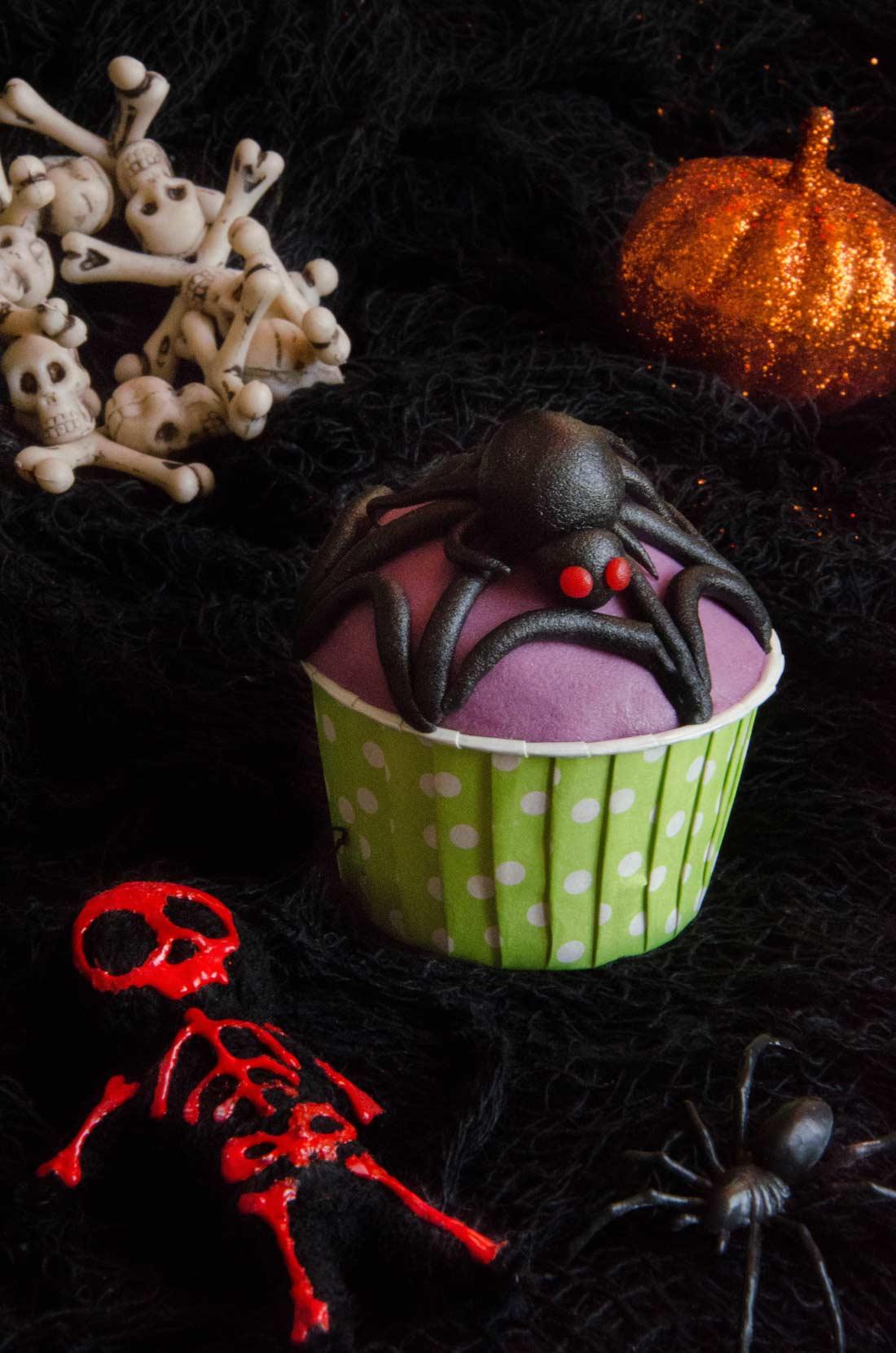 Cupcakes araignée Halloween