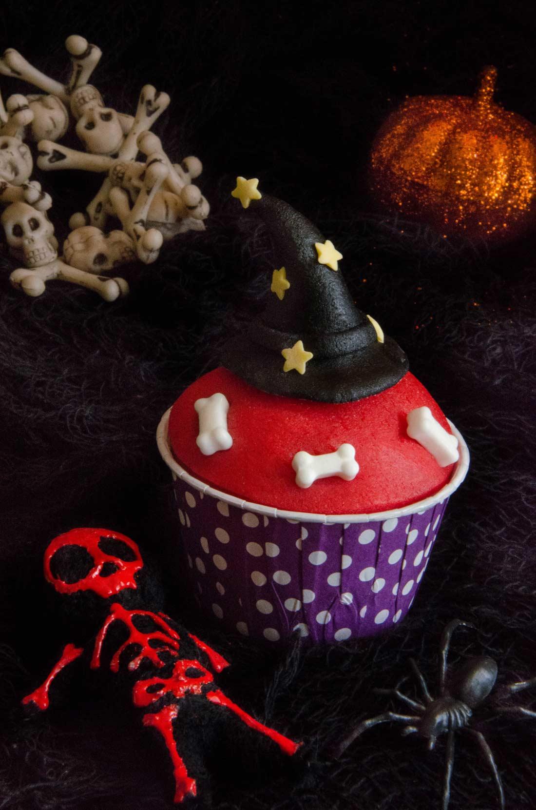 cupcakes chapeau de sorcière Halloween