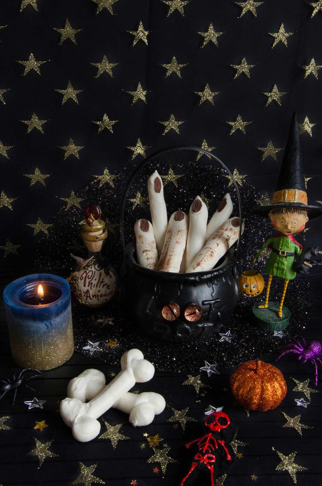 doigts de sorcière Halloween party