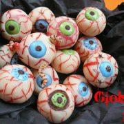Globules frais ou yeux en pâte d'amande pour Halloween