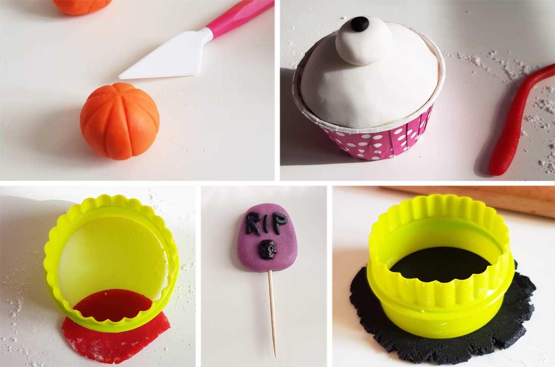 pas à pas Halloween cupcakes à l'orange