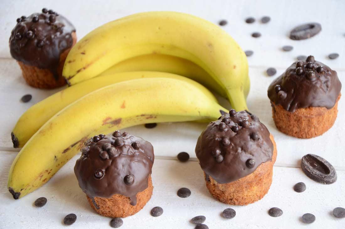 cupcakes banane chocolat. Black Bedroom Furniture Sets. Home Design Ideas