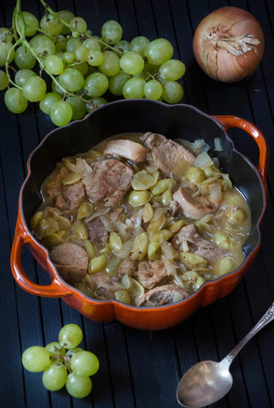 Filet mignon de porc raisin gingembre - Cuisiner un filet mignon de porc en cocotte ...