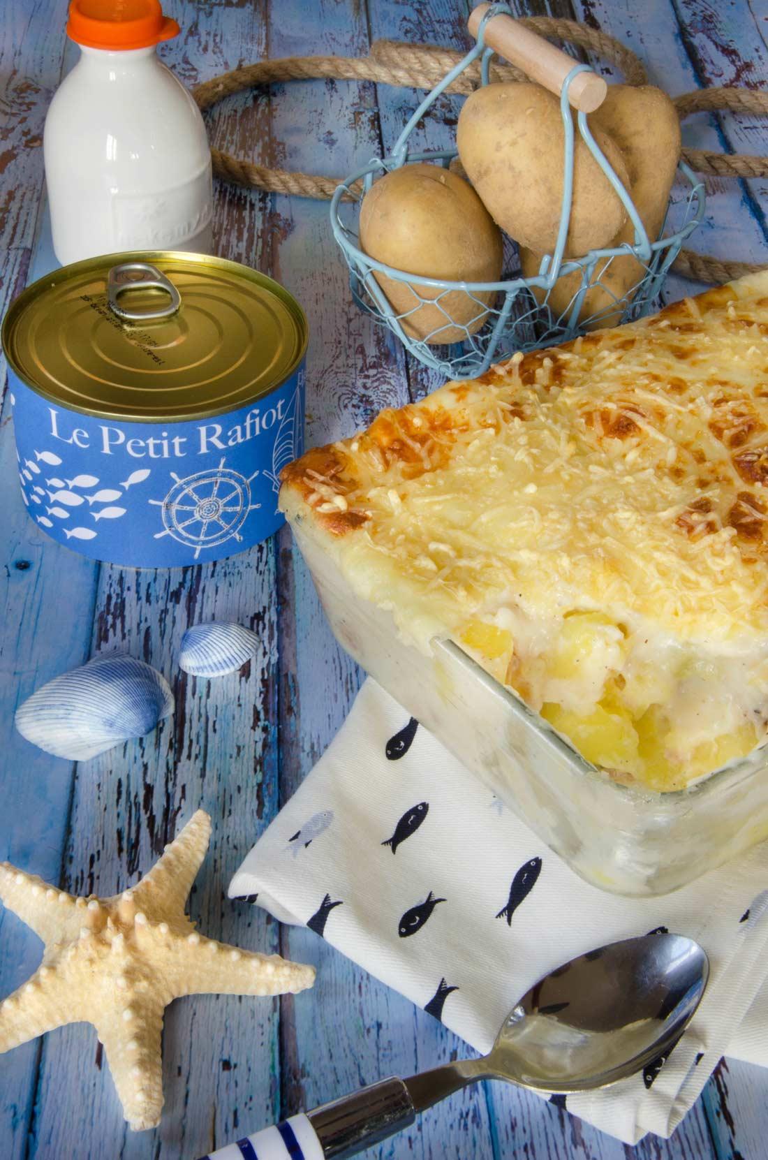 gratin thon pommes de terre béchamel