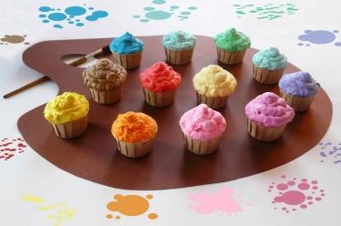 palette de cupcakes à la vanille