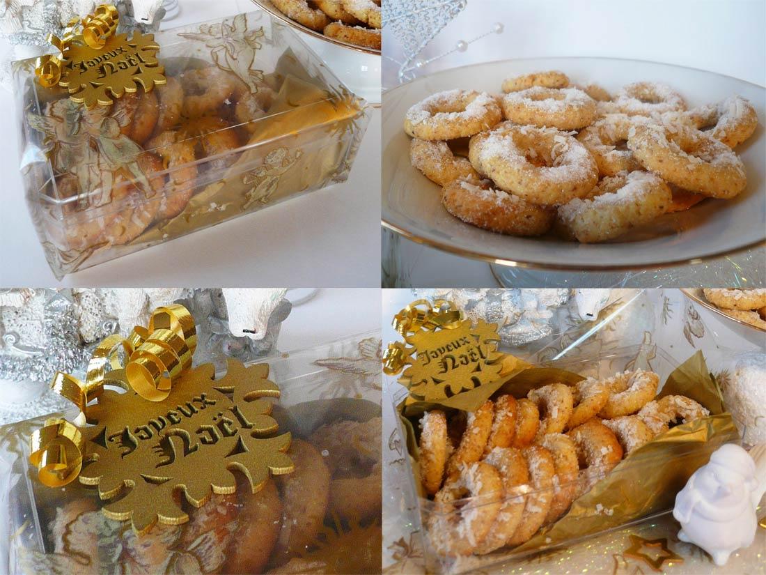 idée de cadeau gourmand maison : sablés de Noël en habit de neige coco