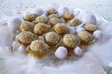 truffes chocolat blanc marron
