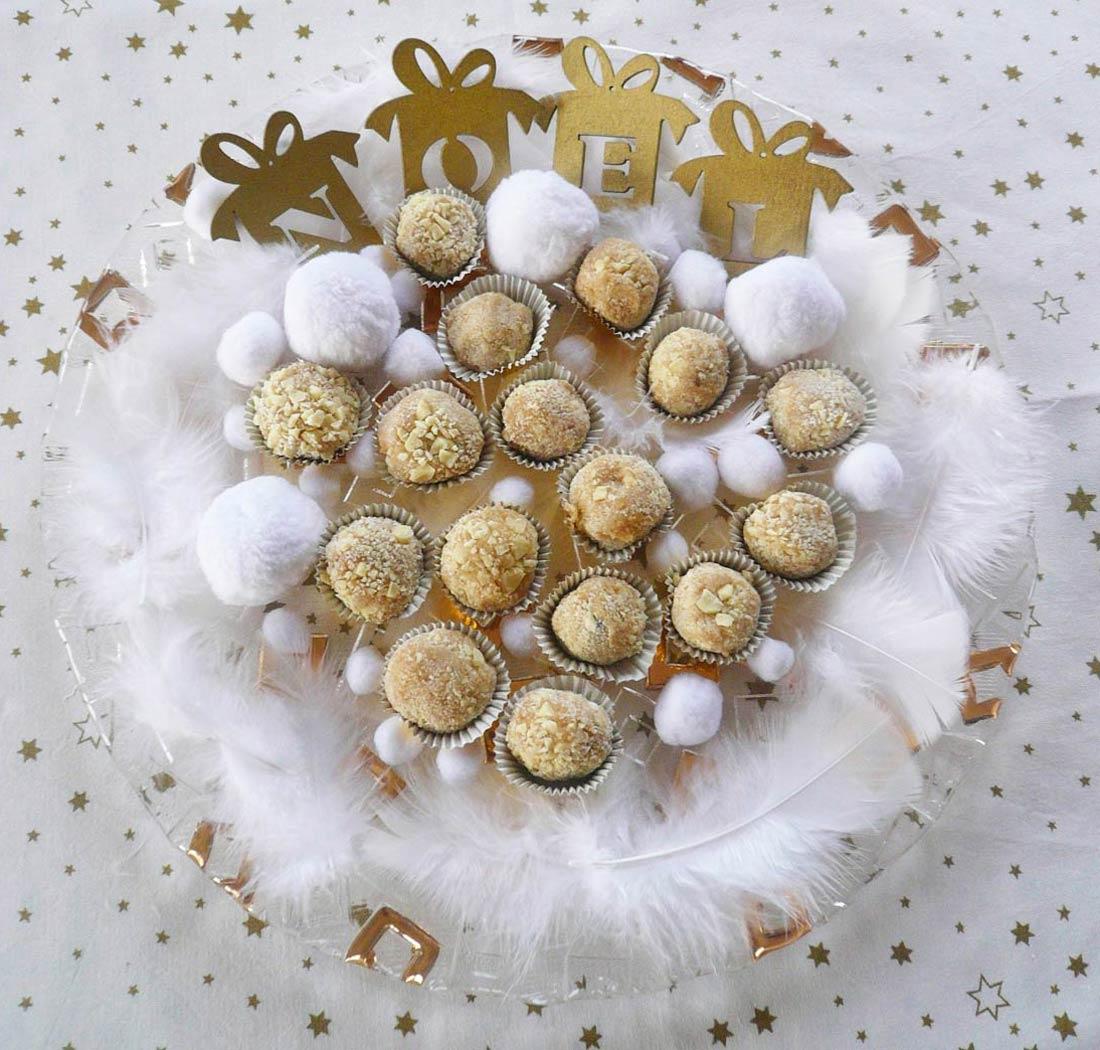 Recette de truffes chocolat blanc marron glacé