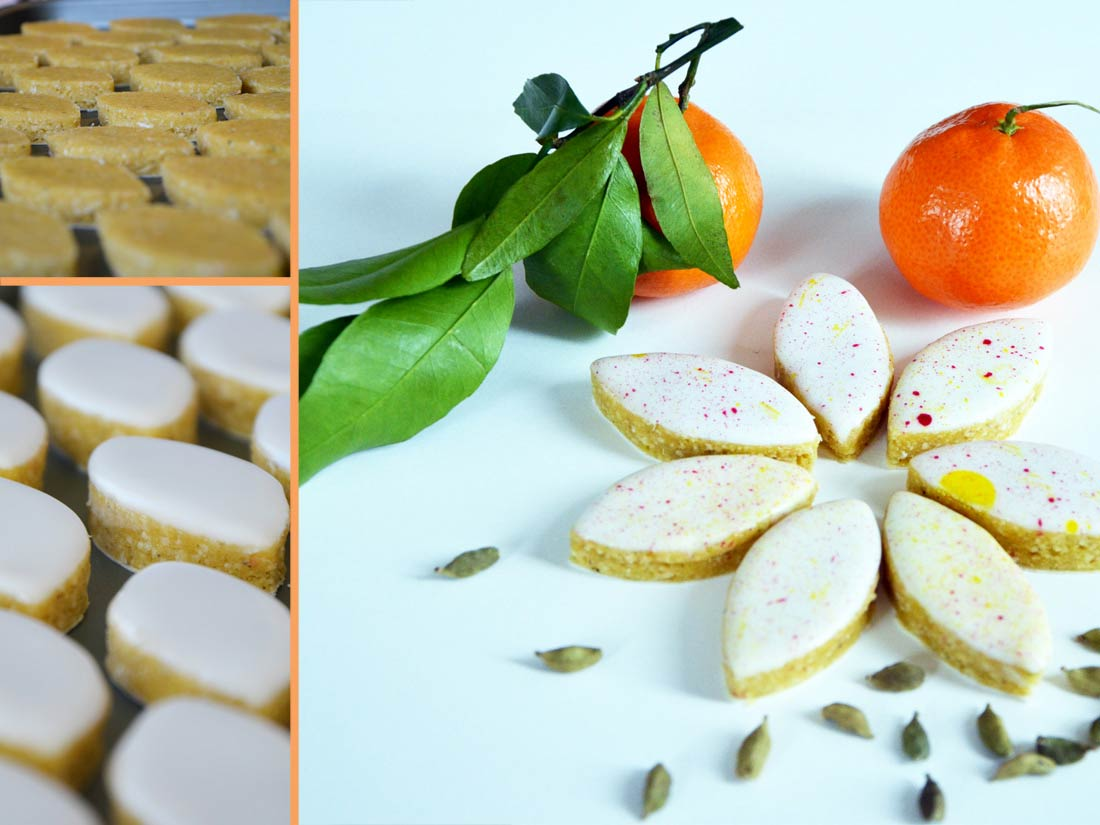 recette de Calissons orange cardamome