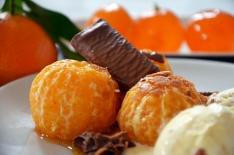 Clémentines rôties à la fève Tonka