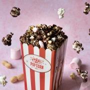 pop-corn surprise au chocolat cacahuète et noisettes