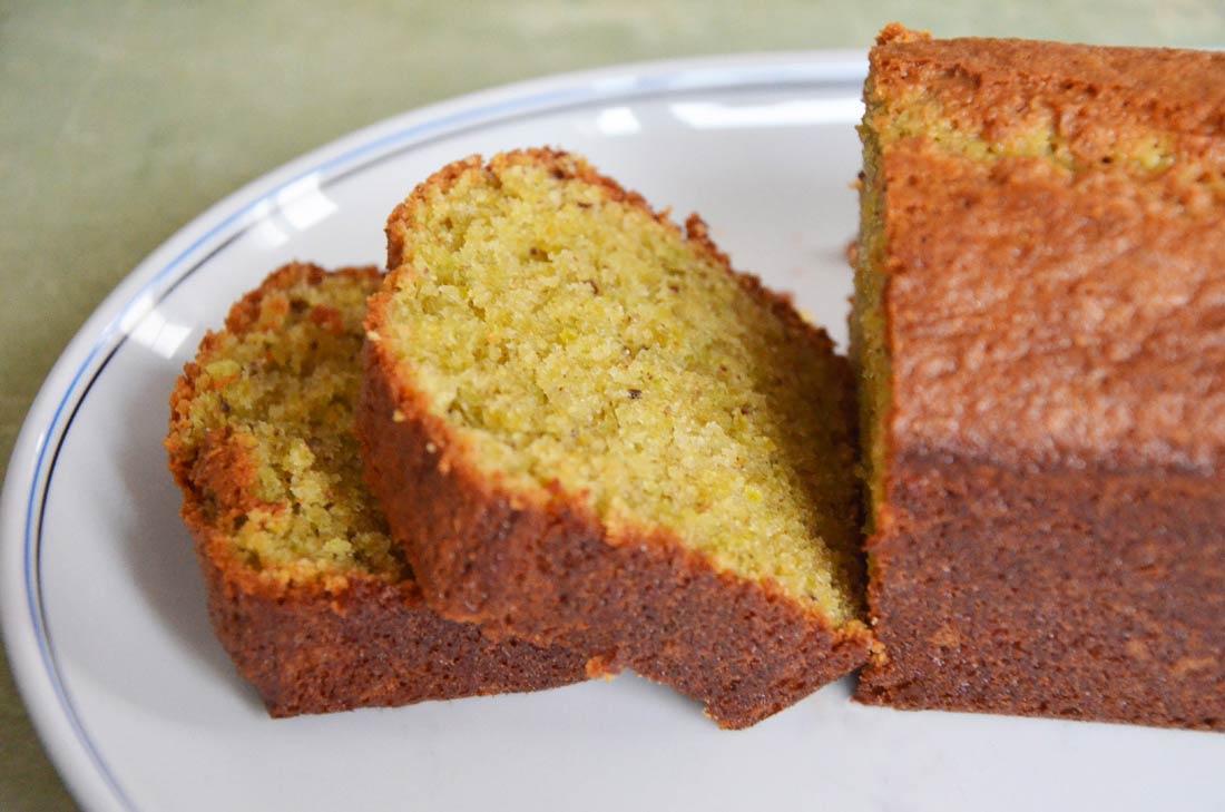 Cake pistache fleur d'oranger