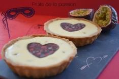 recette facile de tartelettes aux fruits de la passion, dessert idéal à déguster à deux pour la Saint Valentin