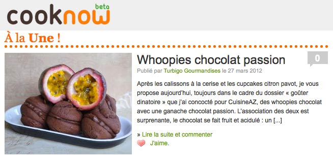 Une cooknow whoopies passion