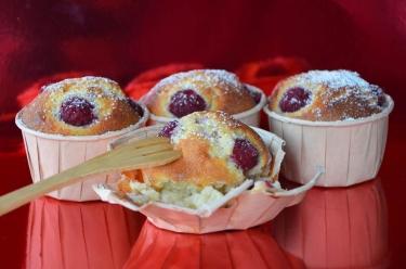 Cupcakes ricotta framboises