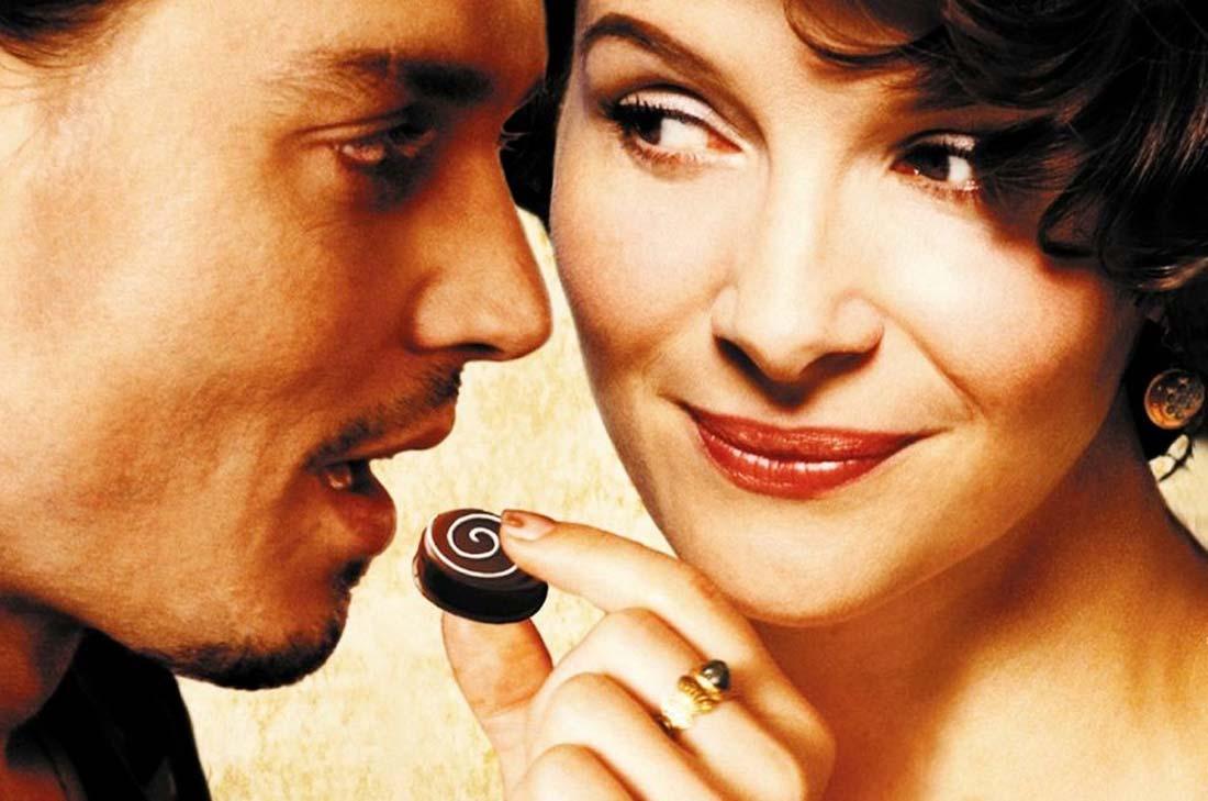 Le Chocolat, un film de Lasse Hallström avec Juliette Binoche et Johnny Depp
