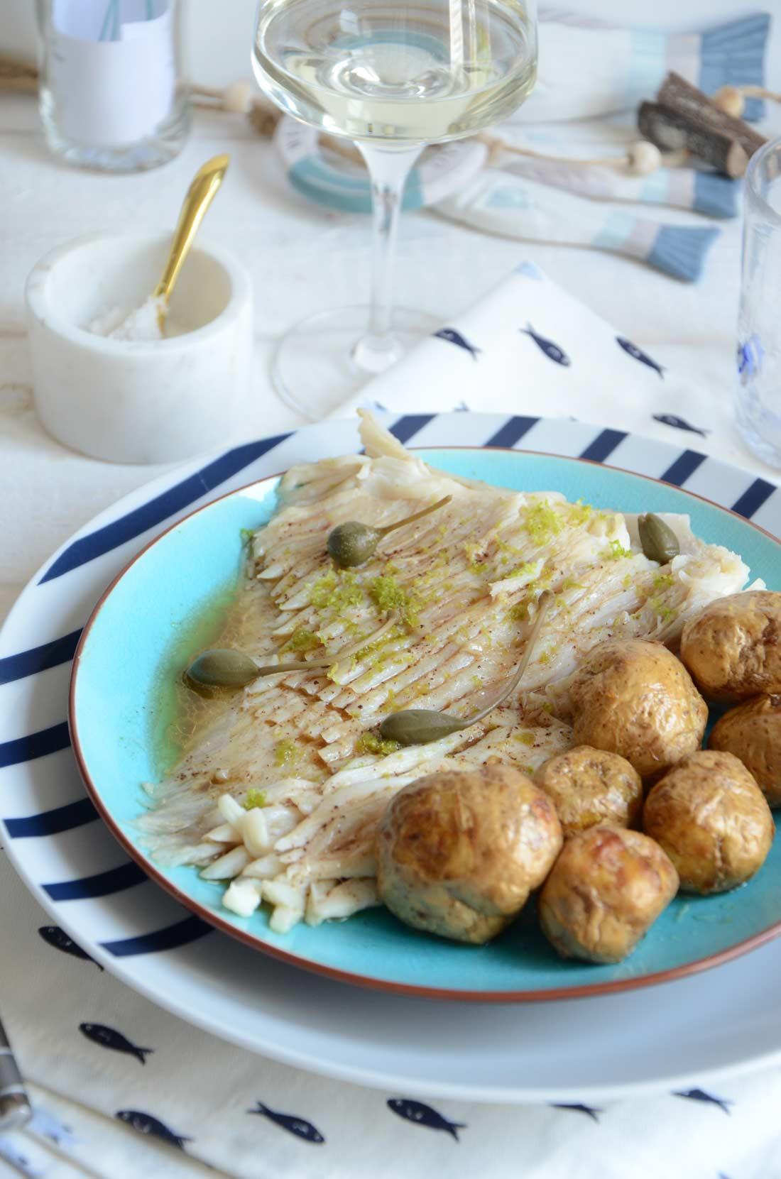 Raie beurre noisette combava, une recette de poisson bien fraiche