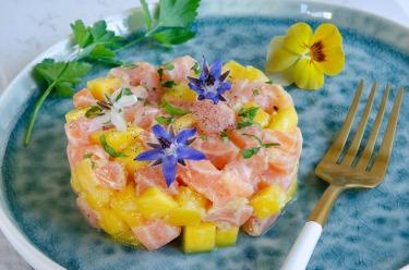 tartare saumon mangue
