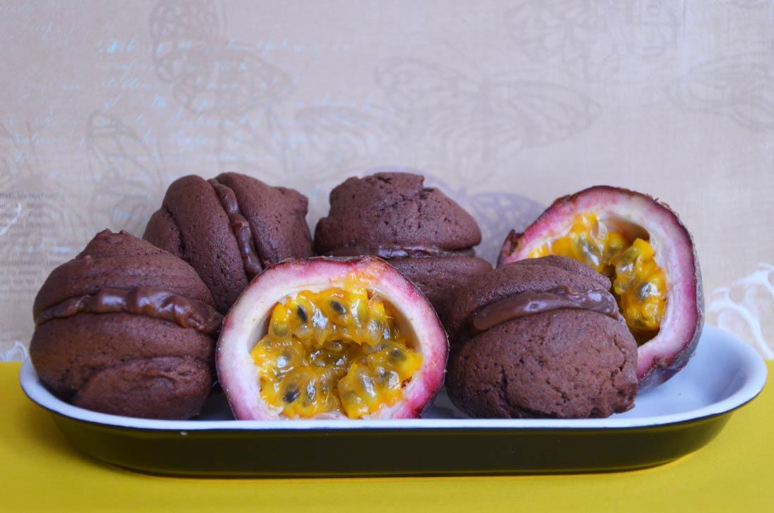 Recette de whoopies chocolat fruits de la passion