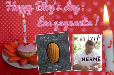 Les Gagnants du Jeu happy blog's day de Turbigo-Gourmandises