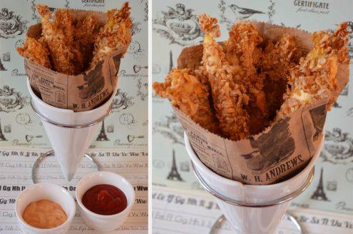 Bâtonnets de poulet croustillants et légers