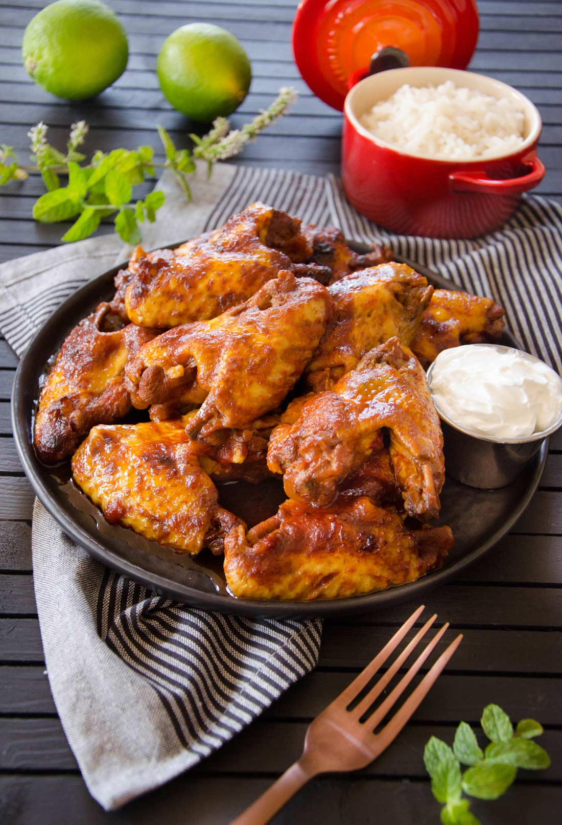 Recette de chicken wings - ailes de poulet en sauce BBQ