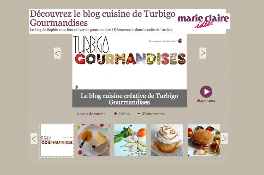 Concours Blog cuisine créative Marie-Claire idées 2012