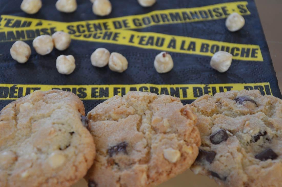 Cookies chocolat noisettes croustillants