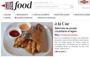 Libé-food - Bâtonnets de poulets croustillants et légers