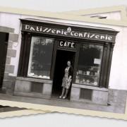 Mamie devant sa pâtisserie