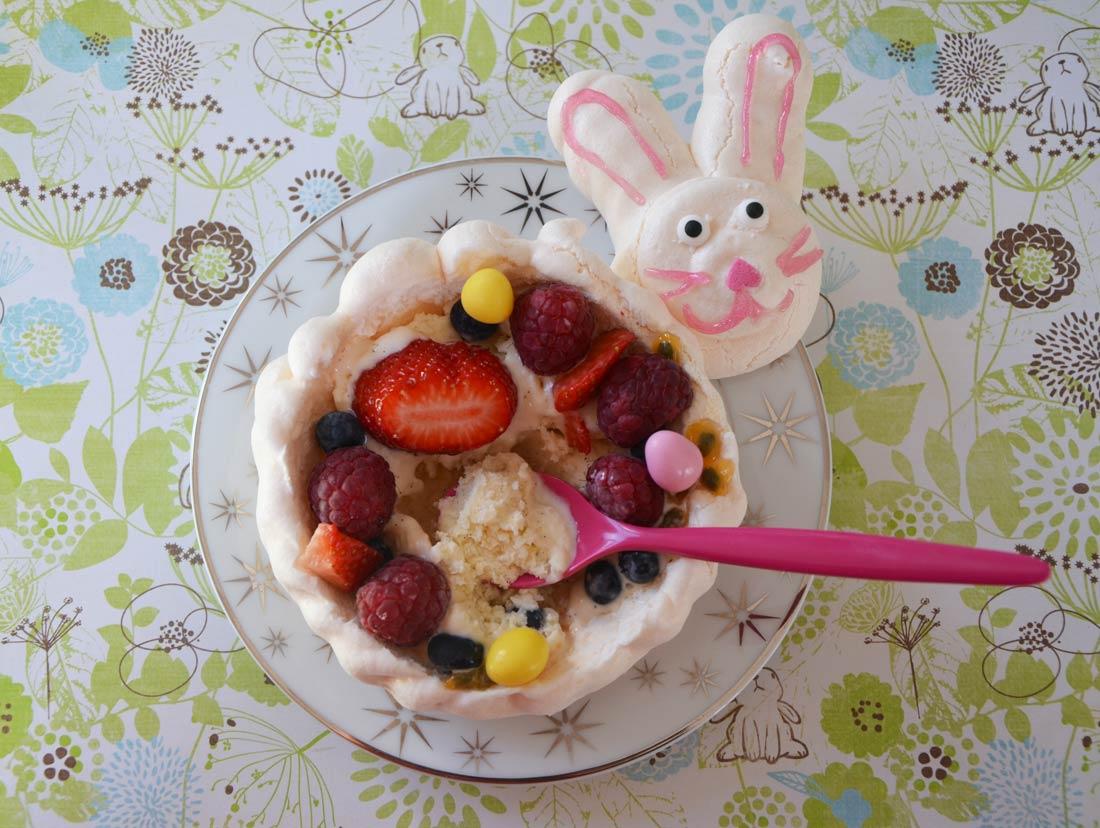 Recette de pavlova pour un dessert de pâques