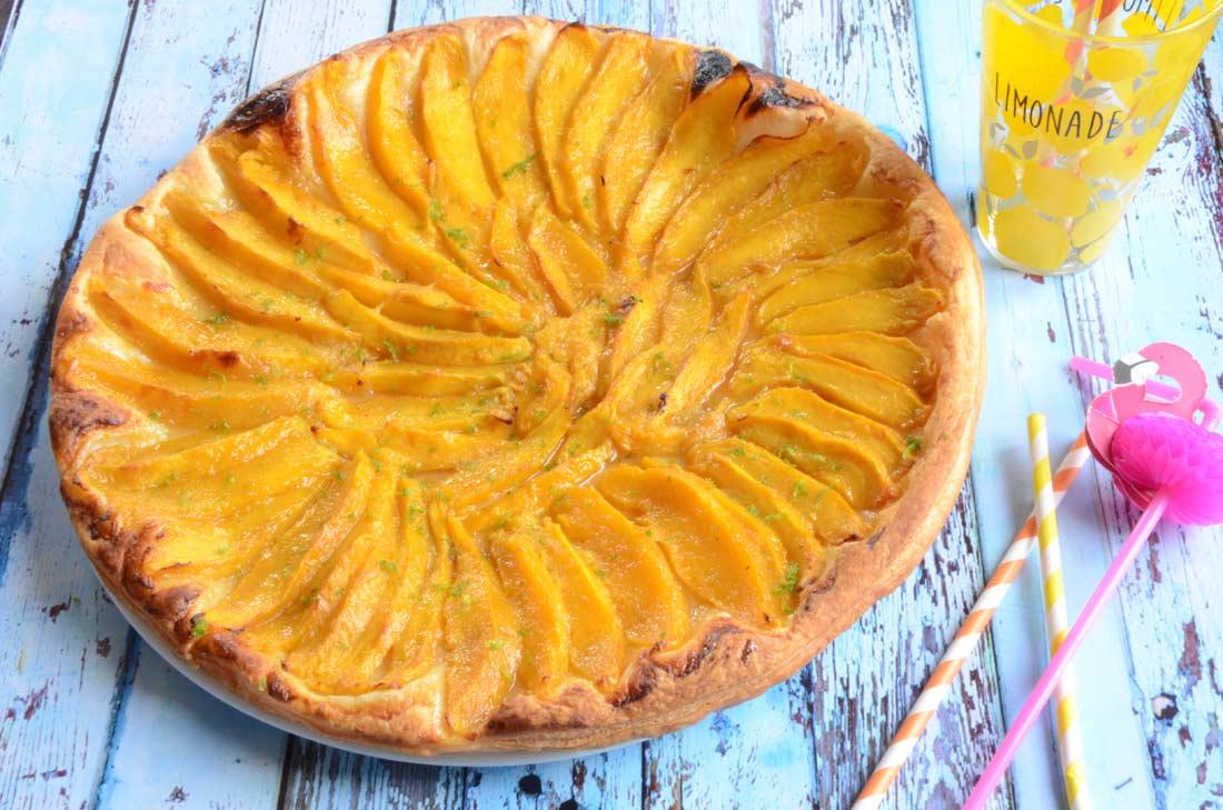 Tarte mangue citron vert