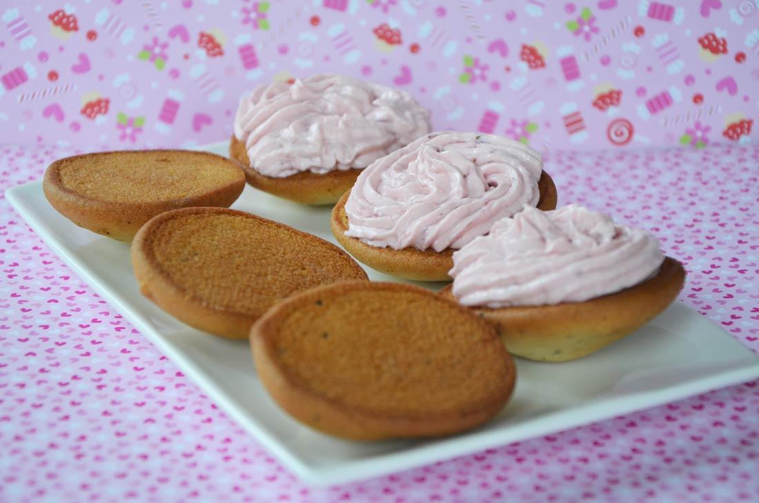 recette de whoopies à la vanille et à la fraise