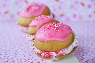 whoopies vanille fraise